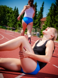 hamstring strain in runner