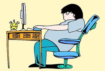 Slump Posture at desk