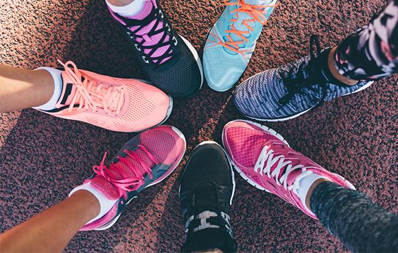 Training shoes marathon